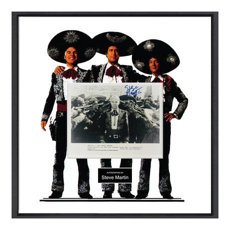 Signed Movie Collage  // Three Amigos // Steve Martin