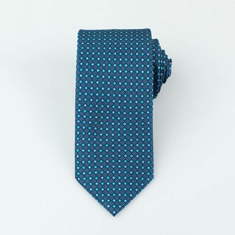 Brioni // Men's Silk Tie 140 // Aqua