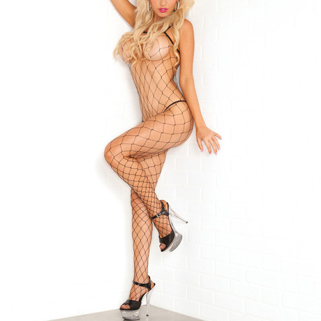 Fierce Fence-Net Bodystocking // One Size