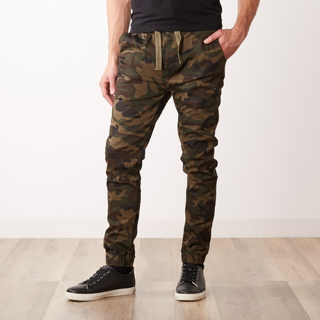Cotton Stretch Twill Joggers // Camo (S)