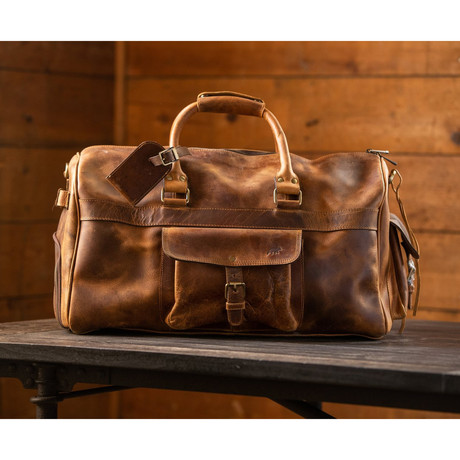 60L Weekender Duffle (Antique Brown)