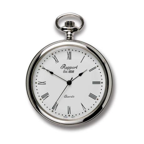 Rapport London Open Face Pocket Watch Quartz // PW51