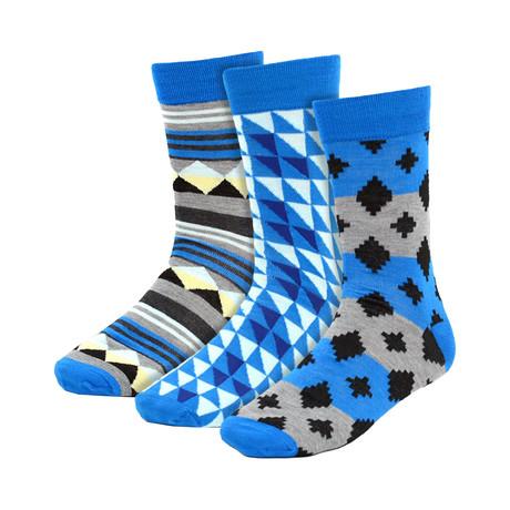 Marlon Dress Socks // Aqua Blue // 3 Pack