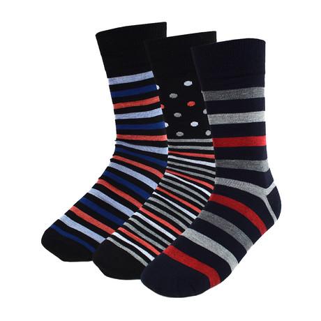 Johnie Men Colorful Dress Socks  // 3 Pack