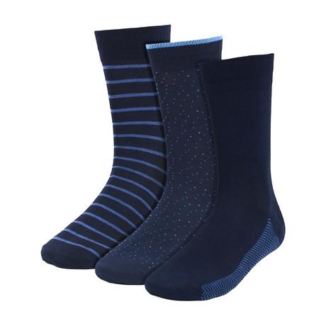 Austin Dress Socks // Navy // 3 Pack