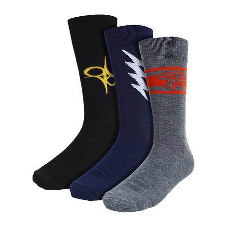 Stephen Novelty Dress Socks // 3 Pack