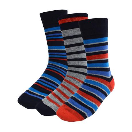 Omer Colorful Stripe Dress Socks // 3 Pack
