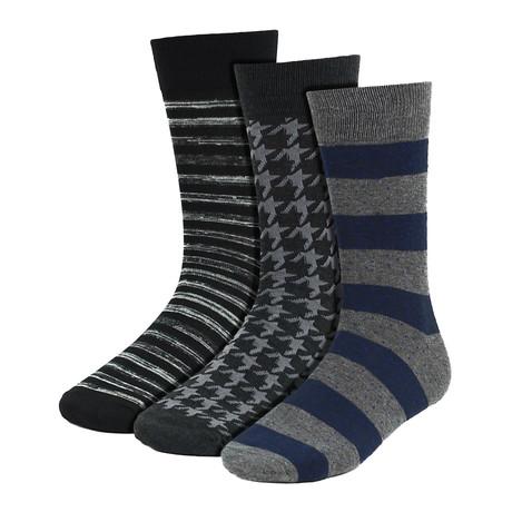 Palmer Dress Socks // Black + Gray + Navy // 3 Pack