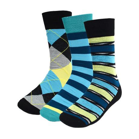 Cordell Dress Socks // Torquoise // 3 Pack