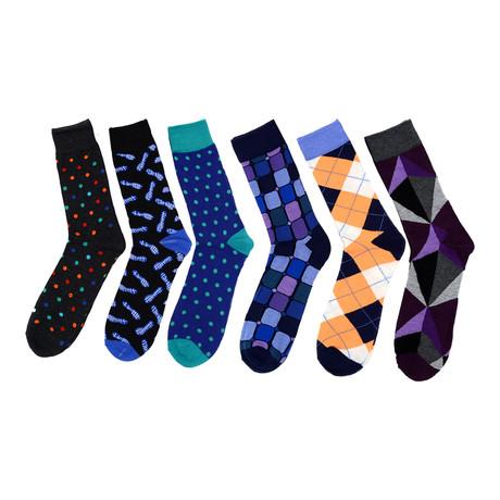 Art Dress Socks // 6-Pack