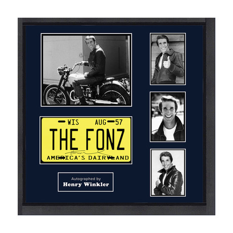 Signed + Framed License Plate Collage // Happy Days
