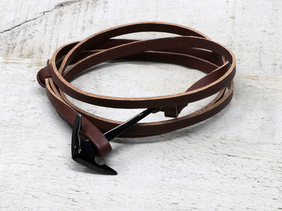 Crucible Rugged Jewelry  Anchor Leather Wrap Bracelet // Brown by Touch Of Modern - Denver Outlet