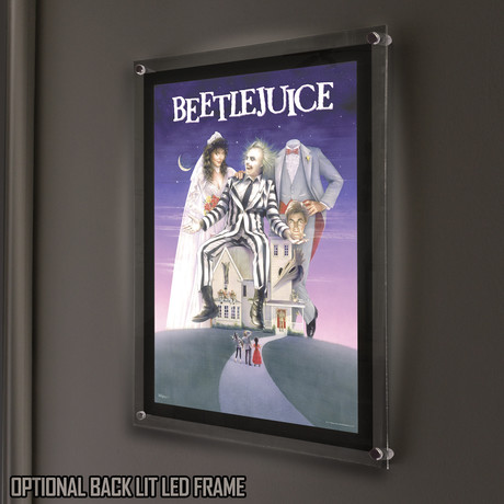 Beetlejuice // MightyPrint™ Wall Art // Backlit LED Frame