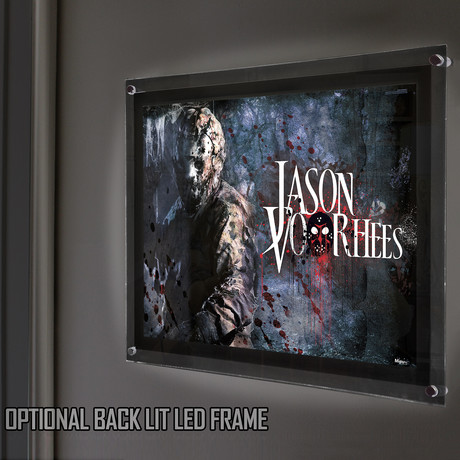 Friday the 13th (Jason Voorhees) // MightyPrint™ Wall Art // Backlit LED Frame