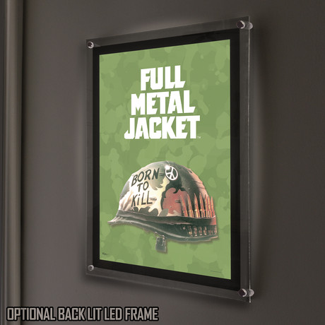Full Metal Jacket (Born to Kill) // MightyPrint™ Wall Art // Backlit LED Frame