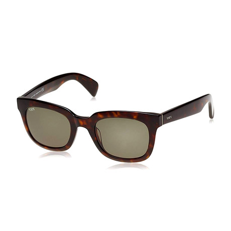 Tod's // Squared Sunglasses // Dark Havana + Green