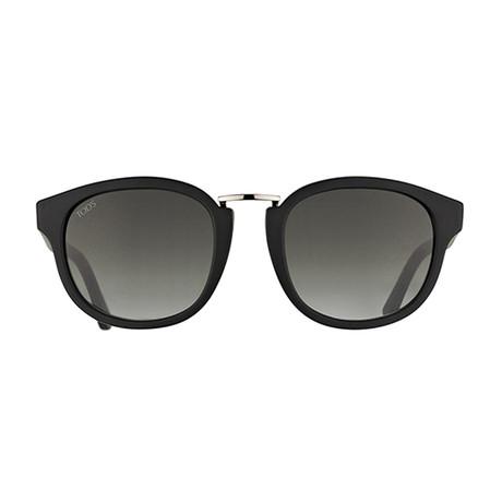 Tod's // Classic Sunglasses // Matte Black + Gradient Smoke