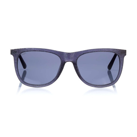 Tod's // Classic Squared Sunglasses // Blue + Smoke