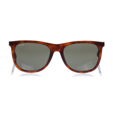 Tod's // Classic Squared Sunglasses // Havana + Green