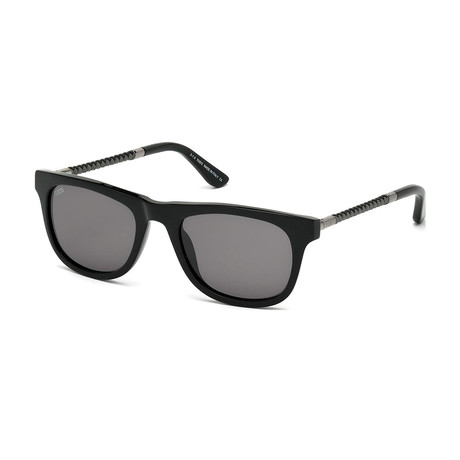 Tod's // New Squared Sunglasses // Shiny Black + Smoke