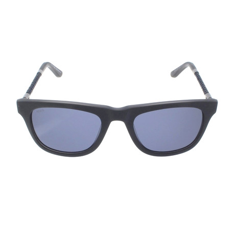 Tod's // New Squared Sunglasses // Grey + Blue