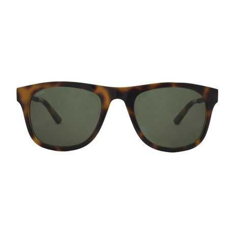 Tod's // New Squared Sunglasses // Havana + Green