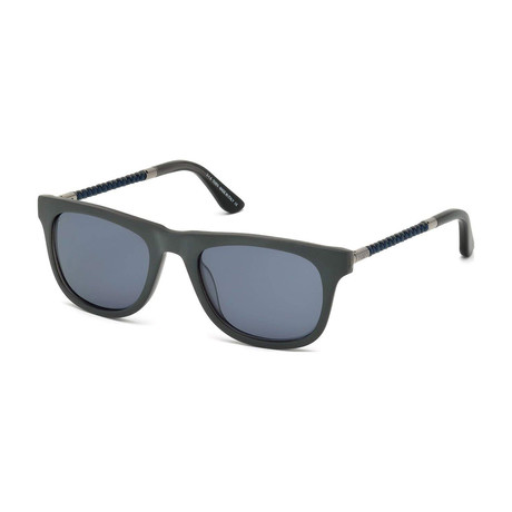 Tod's // New Squared Sunglasses // Gray + Blue