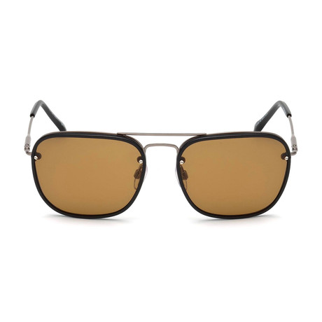 Tod's // Navigator Sunglasses // Shiny Dark Ruthenium + Brown