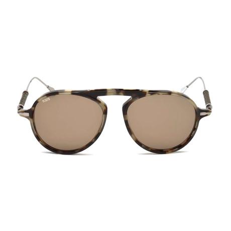 Tod's // Men's Classic Specs Sunglasses // Havana + Brown