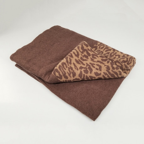 Cashmere Blend Throw // Leopard