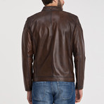 Leather Jacket // Brown (S)