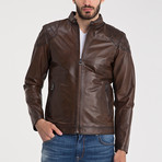 Leather Jacket // Brown (2XL)