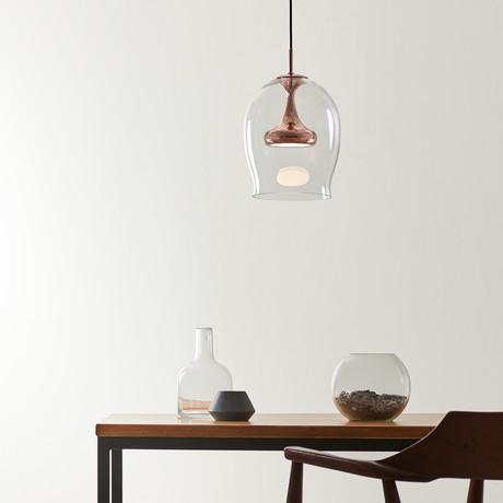 Moai L LED Pendant (Brass + Glass)
