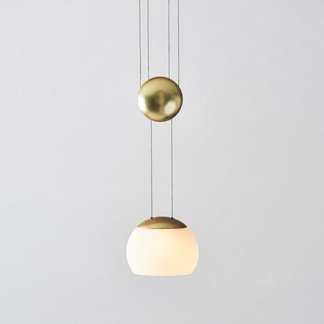 JoJo II LED Pendant (Copper + Glass)