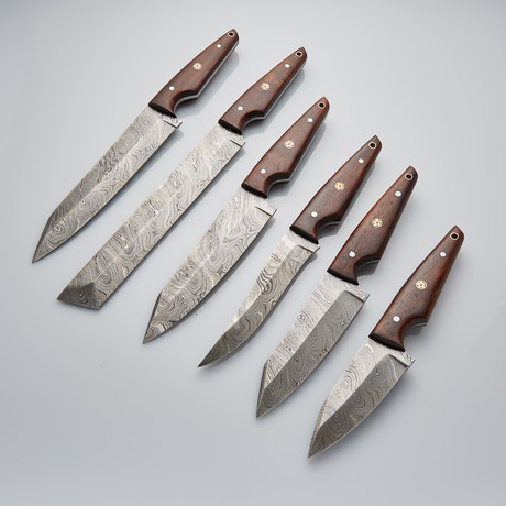Modern Kitchen Knives Set Of 6 PCS // 10