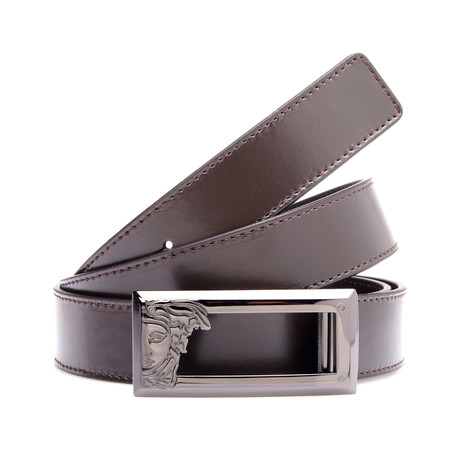 Medusa Buckle Belt // Brown