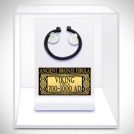 Ancient Viking Authentic Bronze Fibula // Museum Display