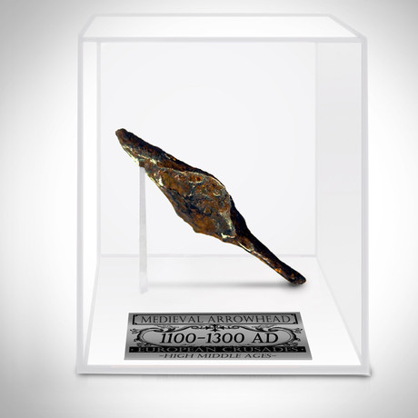 Ancient Medieval Crusader Arrow Head // Museum Display