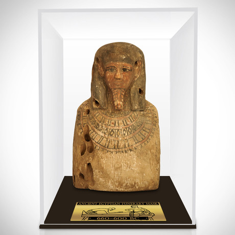 Ancient Egyptian Authentic Funerary Mask // Museum Display