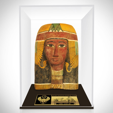 Ancient Egyptian Authentic Large Male Funerary Mask // Museum Display