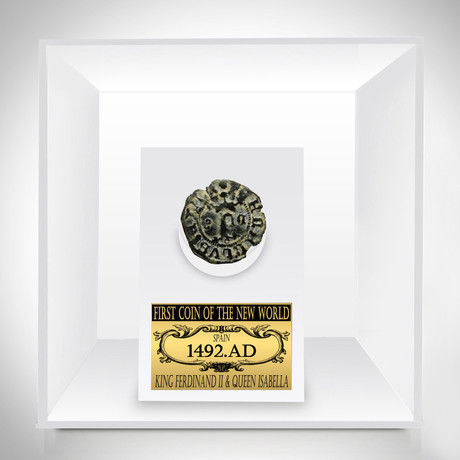 Ancient New World Authentic First Coin Of The Americas // Museum Display