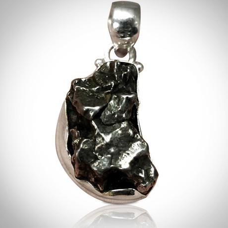 Meteorite Authentic Campo Del Cielo // Pure Silver Pendant