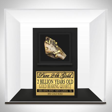 Pure Gold Authentic Quartz Slab // Museum Display
