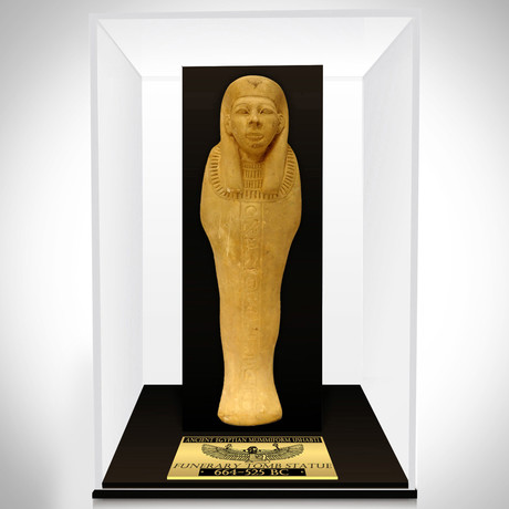 Ancient Egyptian Authentic XL Carved Ushabti Tomb Statue // Museum Display