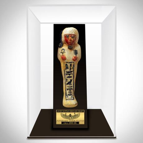 Ancient Egyptian Authentic God Horus Lock Ushabti Tomb Statue // Museum Display