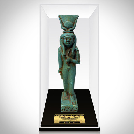 Ancient Egyptian Authentic Painted Goddess Isis Ushabti Tomb Statue // Museum Display