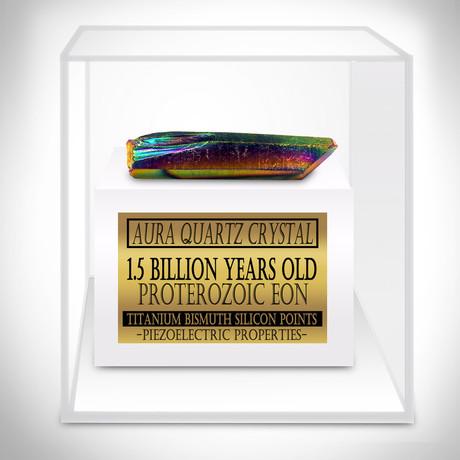 Aura Quartz Authentic Crystal Titanium Bismuth Silicon Points // Museum Display