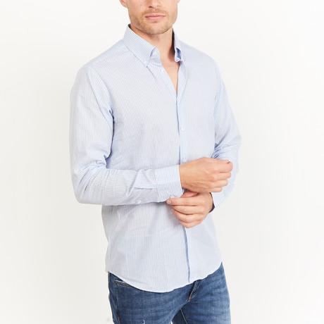 Lightford Button-Up // Gray + White (S)
