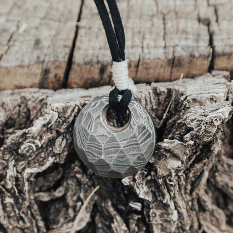 They Eye Of Odin Damascus Pendant // Round & Faceted