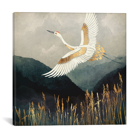 "Elegant Flight // SpaceFrog Designs (12""W x 12""H x 0.75""D)"